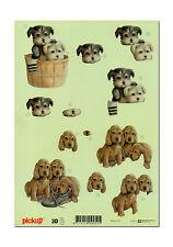 Toller Pickup 3D Motivbogen Etappenbogen 3D Bild Süsse Hundewelpen (070)