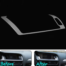 For Audi A4 B8 A5 13-15 Console Warning Light Panel Cover Trim Stainless Steel