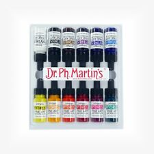 Dr Ph Martin's Hydrus Ink - 12 x 1/2 oz (15ml) Liquid Watercolour - Set 1