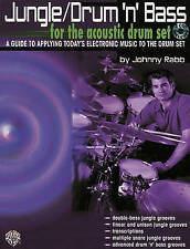 Jungle Drum N Bass For Acoustic Drum Set Learn to Play Music Book & CD