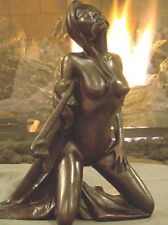 Nude Masochist Lady Signed Vachaudez Sculpture 2 of 4 / Bone Resin