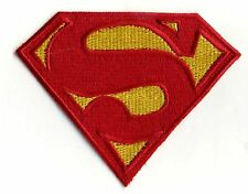 """3"""" x 4"""" Small Embroidered Dean Cain style Superman Logo Patch"""