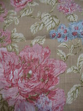 38cm SANDERSON Abingdon 100% linen curtain/upholstery fabric remnant