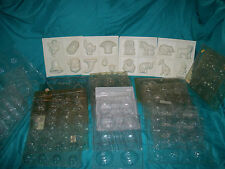 CHOCOLATE CANDY MOLD MIXED LOT 34 PCS Holiday, Disney, Sports