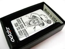 ZIPPO Brushed Chrome ALWAYS DRINK UPSTREAM Classic Windproof Lighter 28443 New!