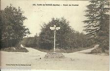 Carte postale, SARTHE Forêt de Bercé, Rond du clocher, écrite au revers en 1932.