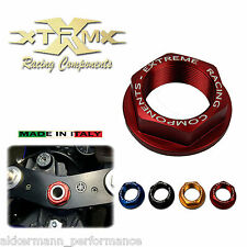 Head tube nut XRC, SUZUKI GSR 750, 11-14, Steering head nut, red, red, M22x1