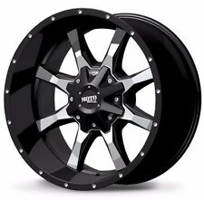 18x9 Moto Metal MO970 Gloss Black Milled Wheels Rims Chevy Ford GMC Dodge Jeep