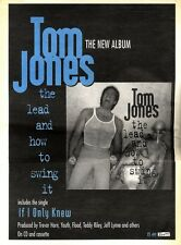 "ARTICLE - ADVERT 19/11/94PGN12 15X11"" TOM JONES : THE LEAD AND HOW TO SWING IT A"