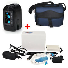 Portable Oxygen Concentrator Generator device Home Travel +Finger Pulse Oximeter
