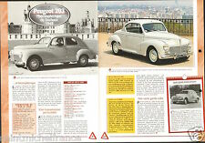 Peugeot 203 Berline Affaire Luxe/Cabriolet  1948 France Car Auto FICHE FRANCE