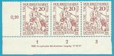 DDR aus 1956 ** postfrisch MiNr.544 mit Druckvermerk und Plattenfehler 544 I F43