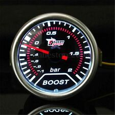 "2"" 52mm Car Universal LED Pointer Bar Turbo Boost Gauge Vacuum Press Meter Smoke"