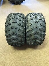 Pair of Two  Kenda Klaw MXR 18x10.5-8 Sport ATV Tires 4 Ply K533 MSRP $248.86