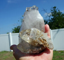 Natural Clear Quartz Rutilated Crystal Point Elestial Cathedral Castle Brazil