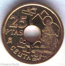25 Pesetas variante Ceuta 1998 Spagna @ Pietra parte anteriore di *la vergini IN