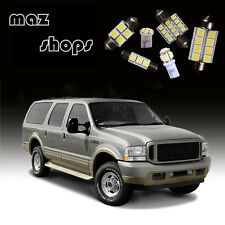 White12 Pieces Interior LED Light Bulbs Package Fit for Ford Excursion 00-05