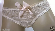 Gorgeous Cream Ivory Low Rise Lace Bikini Knickers  UK Size L