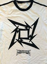 METALLICA cd cvr Beyond Magnetic STAR SOCCER Official WHITE JERSEY SHIRT LRG new