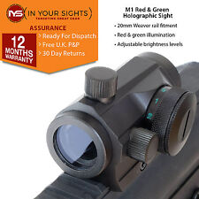 Holographique rouge & green dot sight/micro M1 airsoft fusil de vue. convient 20mm rails