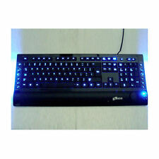 Logisys KB208BK USB/PS2 Blue/Red Illuminated keyboard