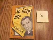 So Help Me Daring Life Story of George Jessel book vintage with dust jacket