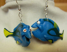 NORA WINN ~DORY~ Earrings 925 SILVER HOOKS FINDING NEMO FRIENDS DISNEY
