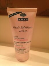 NUXE PARIS GENTLE EXFOLIATING GEL WITH ROSE PETALS FULL SIZE 2.6 OZ, NEW!!!!