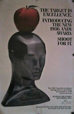 "ORIGINAL 1986 ""ANDY"" AWARD POSTER ADVERTISING CLUB OF NEW YORK 45"" X 29 3/4"""