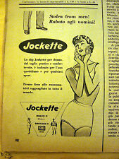 PUBBLICITA' ADVERTISING WERBUNG 1955 SLIP DONNA JOCKETTE (E234)