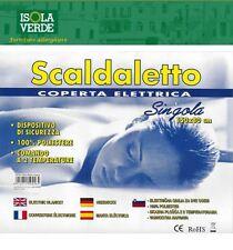 COPERTA TERMICA SCALDALETTO TERMO COPERTA SCALDA LETTO SINGOLO 150X80