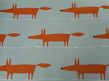 Harlequin Scion Fabric 'Mr Fox' 1.6 METRES Sky/Tangerine/Chalk - 100% Cotton