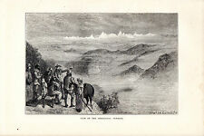 S.P.HALL - HIMALAYAS AT SUNRISE  - WOOD ENGRAVING FROM 'THE PRINCE'TOUR' (1877)