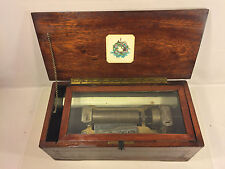 Antique Mermod Freres Swiss Music Box Great Wood Case w/ Inlay Runs 1888