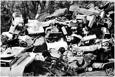 Pedal Cars in a WWII scrap yard for metal drive 8 x 10 photograph