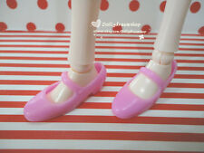 Mattel Big Feet Barbie/Pullip#2/LIV doll Mary Jane shoes 1pair - Pink Color