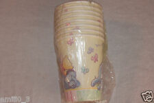 NEW WINNIE THE POOH  BABY SHOWER #1   PAPER CUPS  PARTY SUPPLIES