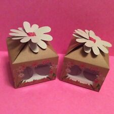 Cupcake Gift Box 4 cup with filmed window and insert x 2
