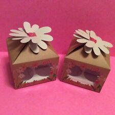 Caja de regalo de la Magdalena 4 Taza Con Grabado Ventana e inserte X 2 Ideal Para Día De Las Madres