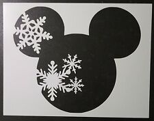 """Winter Snowflake Mickey Mouse 11"""" x 8.5"""" Custom Stencil FAST FREE SHIPPING"""