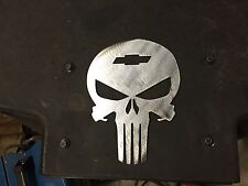 Plasma cut Chevy Punisher  Skull Man Cave/Garage art Wall Decor