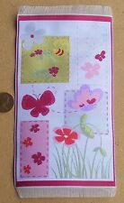 1:12 Scale 19cm x 10.3cm Butterfly & Bees Mat Dolls House Carpet Accessory 5611