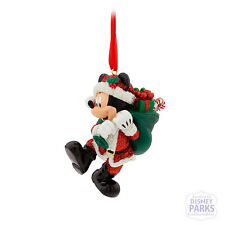 Disney Parks Santa Mickey Mouse with Presents Christmas Ornament