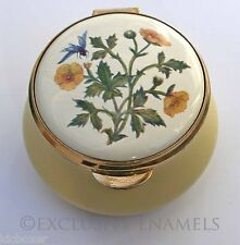 Staffordshire Enamels Old Hall Yellow Poppies Enamel Box