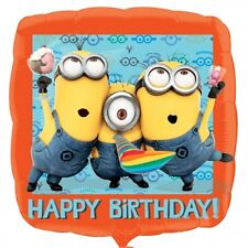 Minions - Despicable Me - Happy Birthday Foil Balloon - 43cm - Helium Required