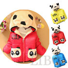 Baby Girls Boys Winter Jackets Hoodie Fleece Animal Pocket Panda Coat Outerwear