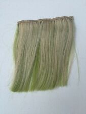 "5.5""L By 4"" Wide Clip in Human Hair Extensions streaks Blonde On Lime Green 1Pc"