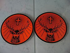 "2x Jagermeister Sticker 5.5"" Rudi Sticker Orange/Black Jägermeister"