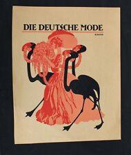 Julius Klinger Wien Minsk Flamingo Mode Jugendstil Art Nouveau Blumen Hut Frau