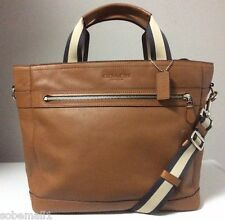 Coach Smooth Leather Saddle Brown Utility Tote Bag F71792